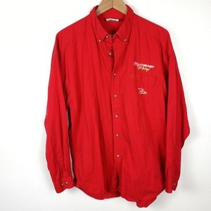 CHASE AUTHENTICS VINTAGE NASCAR Red Racing Shirt